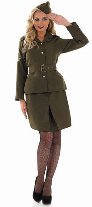 WW2 Army Girl Costume (2551)