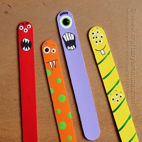 DIY Halloween : DIY Monster Craft from Craft Sticks