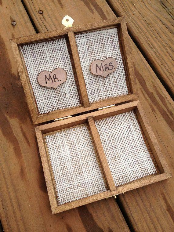 Shabby Chic Ring Bearer Box Rustic Wedding by CountryBarnBabe