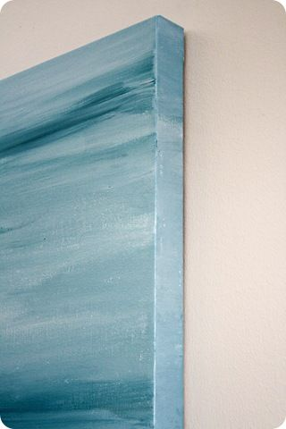 Thrifty Decor Chick: DIY art (reusing an old canvas)tips for creating your own wall art