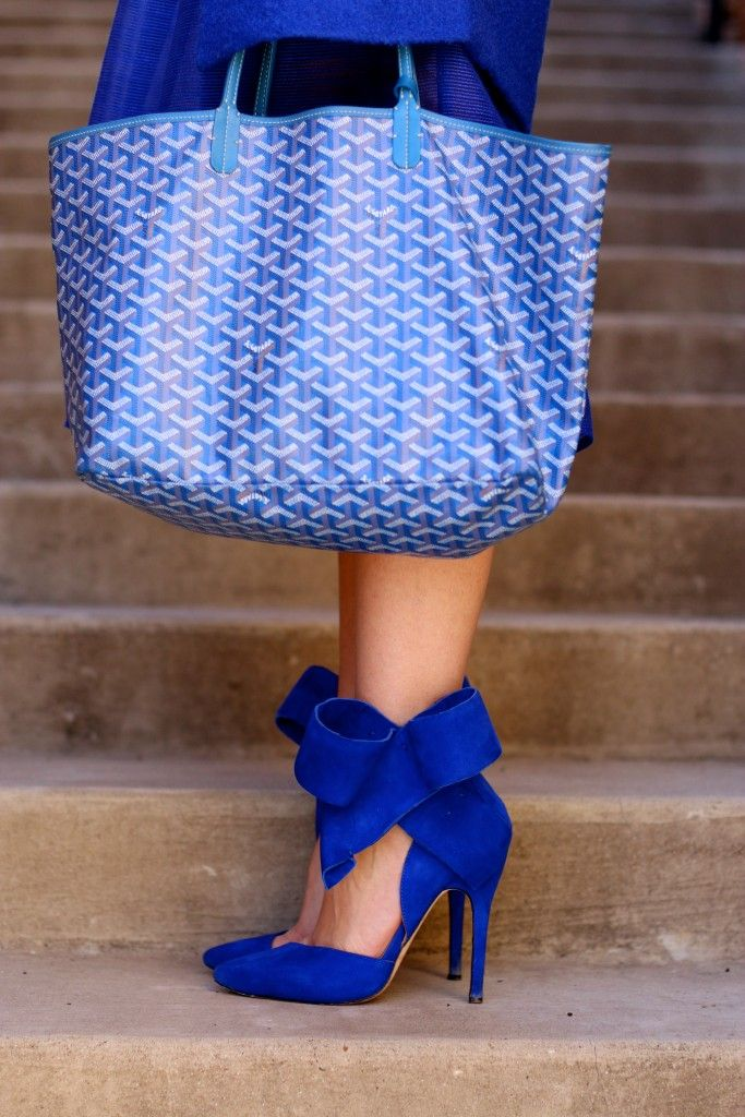 Aminah Abdul Jillil Cobalt Blue Bow Heel:
