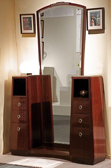 deco dresser and mirror