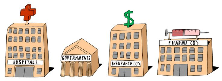 A simple line illustration of buildings created for Shire Pharmaceuticals.