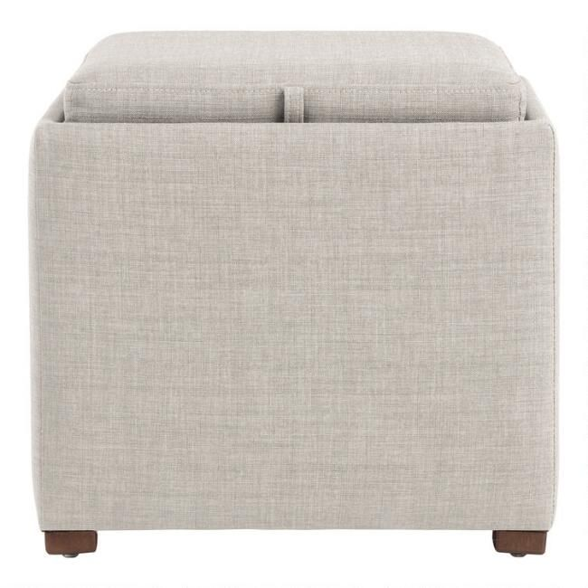 Square Ryan Modular Storage Ottoman With Tray Top In 2020
