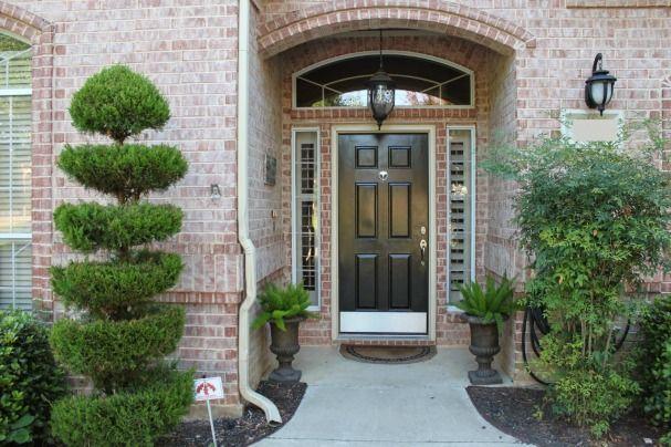 Classic and timeless black front door color modern - Front door paint ideas ...