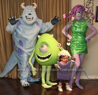 coolest homemade monsters inc group costume - Boo Halloween Costumes