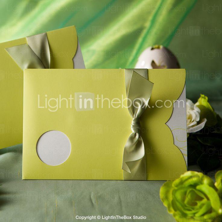 primavera invito di nozze verde con ritaglio tondo-set di 50/20 - EUR € 19.99