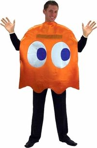 adult clyde pacman ghost costume #videogames