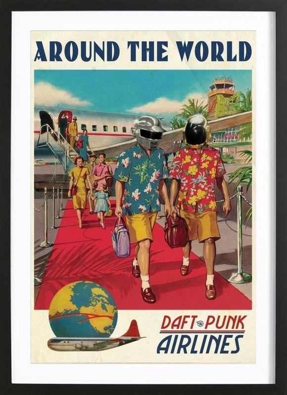 Around The World - Ads Libitum - Affiche premium encadrée
