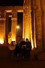 Luxor at night