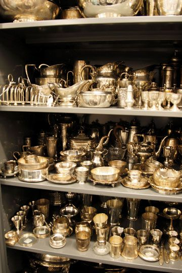 Martha Stewart's silver. It is actually bar coded and cataloged and has to be checked out to be used. Organization to the extreme.