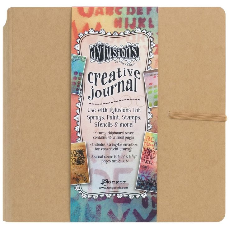 Dylusions Creative Journal Square 8x8 plain