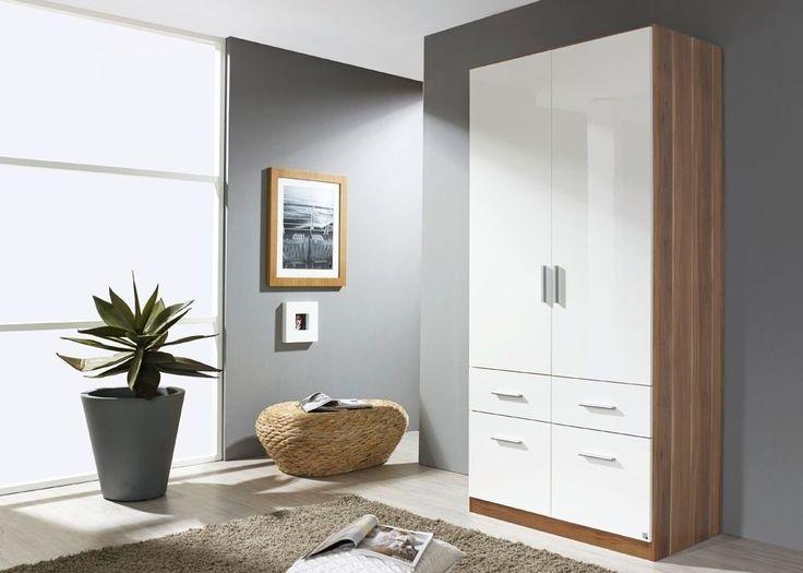Kleiderschrank Celle 136,0 cm Alpinweiß Weiß 8283 Buy now at - schlafzimmerschrank weiß hochglanz