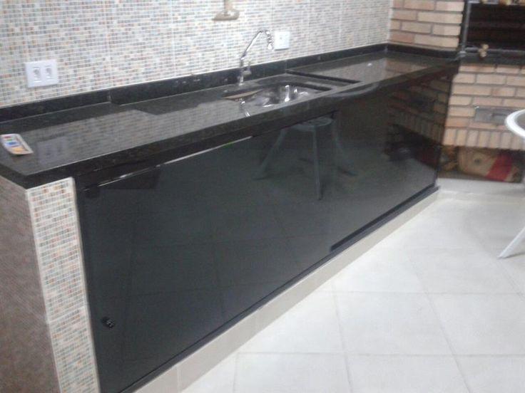 balcao de cozinha com blindex  Pesquisa Google  Cozinhas  Pinterest  Desc -> Pia De Banheiro Em Blindex
