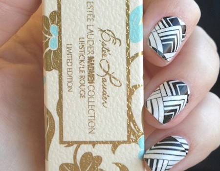 Sally Hansen Salon Effects love this pattern! I just applied it to my nails. Yay for clearance beauty supplies!