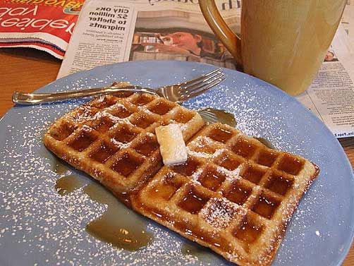 waffles buttermilk and brown butter waffles recipes dishmaps waffles ...