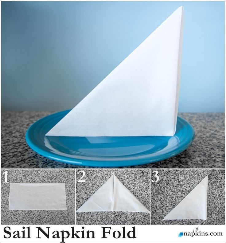 rosebud napkin fold instructions