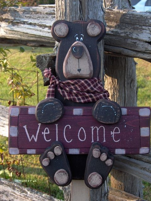 Bear- I think I'll do this for our address sign!