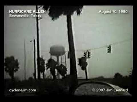Hurricane Allen - Jamaica & Texas - August 6-10, 1980 this was the first hurricane I experienced.