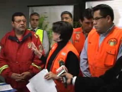 Alcaldesa de Lima dirigió operaciones de simulacro de sismo