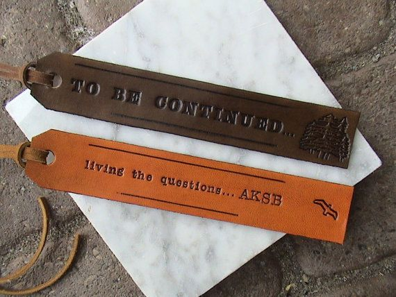 Make It Personal  Custom Leather Bookmarks  by leathermadenice, $12.00