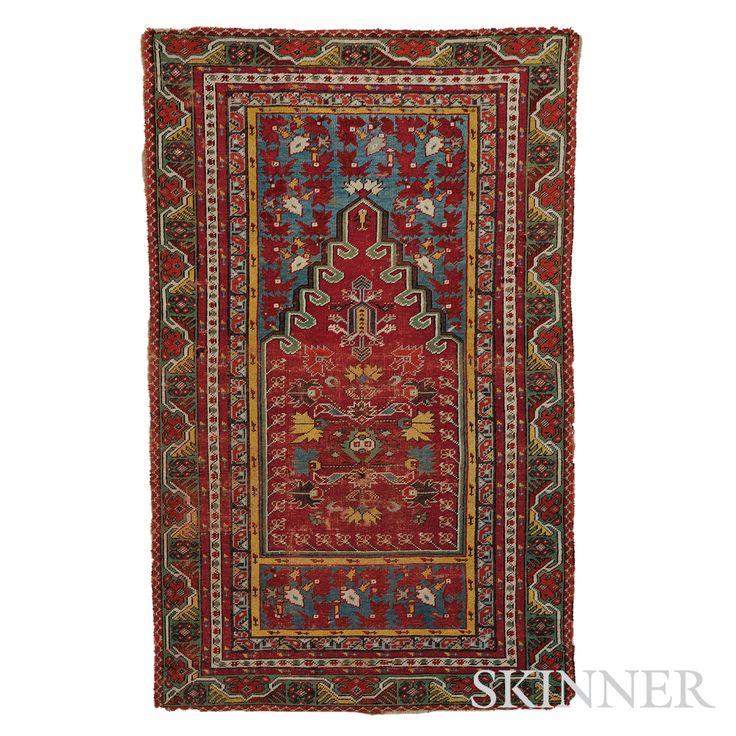 Kirshehir Prayer Rug, West Anatolia, second half 19th century,  5 ft. 3 in. x 3 ft. 3 in.   | Skinner Auctioneers Sale 2795B