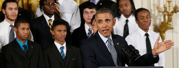 Obama Delivers Message Of Encouragement To Chicago At-Risk Youth The former president talked with the young men ahead of his first major public speech since leaving the White House.The former president takes time to give young men an uplifting word ahead of his first post-presidential speech.