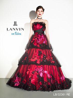 アクア・グラツィエがセレクトした、LANVIN EN BLEU(ランバン オン ブルー)のウェディングドレス、LB32361をご紹介いたします。