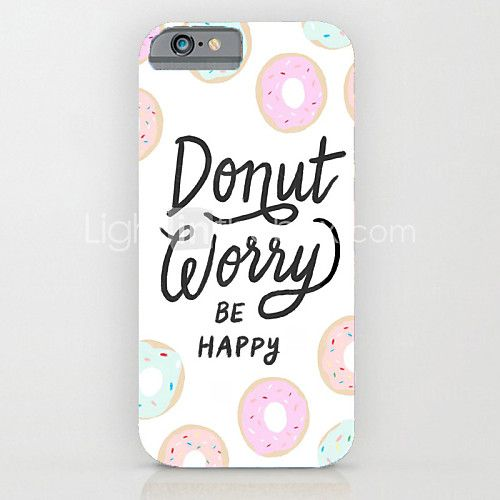 personnalité en anglais motif pc dur de couverture de cas pour l'iphone 6s 6 plus - USD $1.99