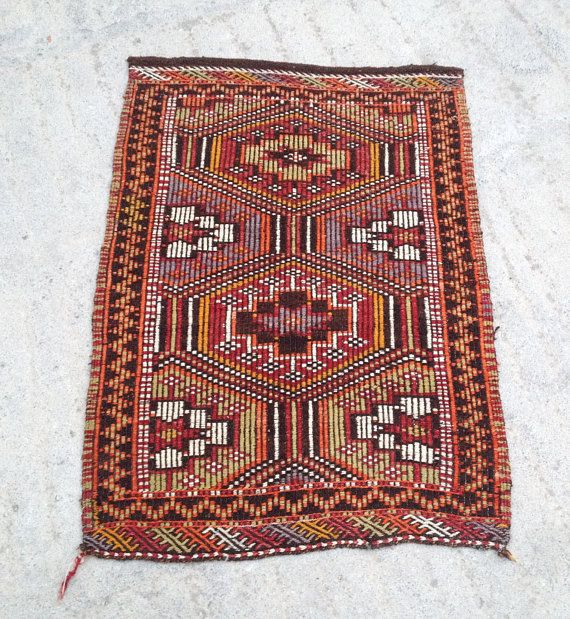 Kilim Rug Turkish Kilim Rug Small Rug Bedroom Rug Decor