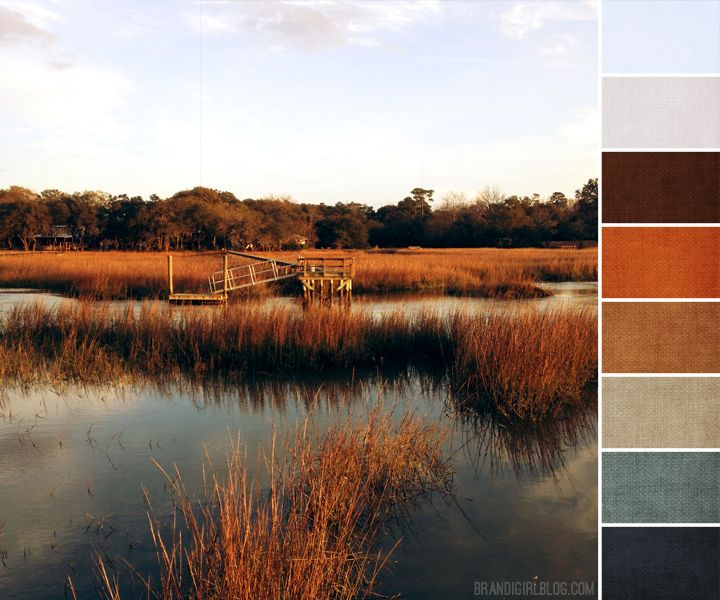 backyard creek palette- love the burnt orange and storm like color.. - I love this... bedroom colors <3 some lighter creams/tans/browns maybe -