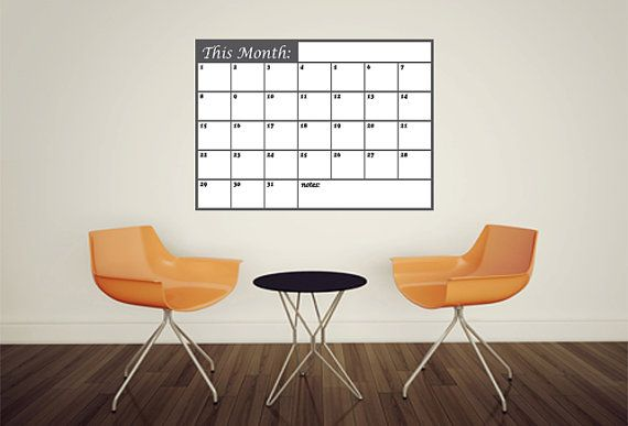Whiteboard Sticker this month Wall Calendar Planner by MegaBoards