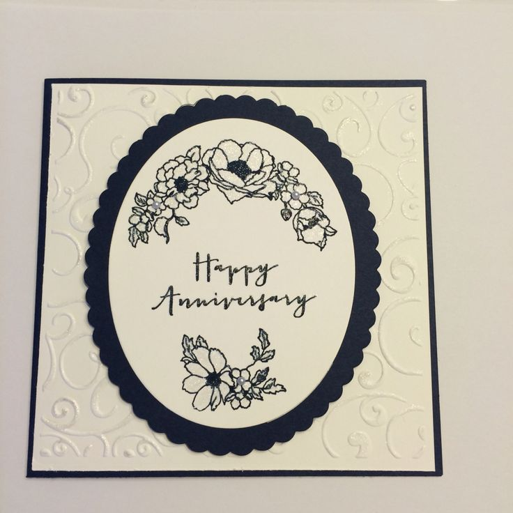 Night of navy card stock, framelits ovals collection and timeless love stamp set.