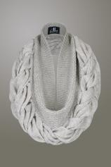 Versatile SnugaLee - loose around neck or double up as a snood.  Lightweight, versatile, super soft and hypoallergenic.   100% Pure Alpaca knitted in Peru