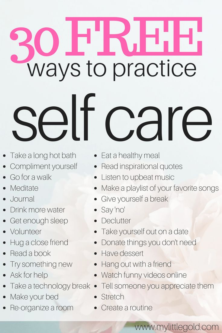 huge list of free self care ideas to take care of yourself