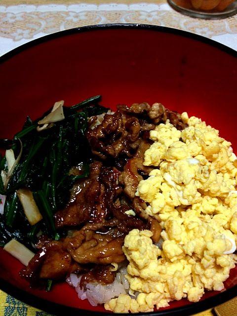 十勝豚丼のタレを使いました。 - 71件のもぐもぐ - 三色丼 by あゆみ