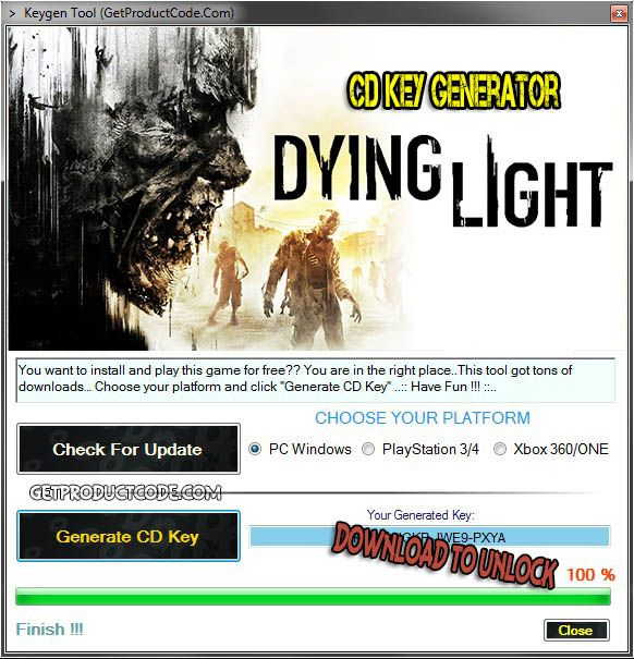 Dying Light CD Key Generator 2016