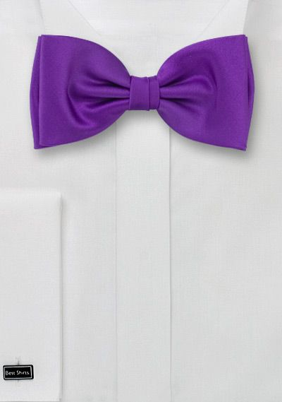 """""""Bow ties are cool."""" purple bow tie"""