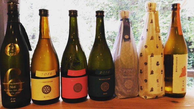 昨日の仕入れたお酒 このお酒は来月のSAKEtoATEにて提供予定  ラインナップ #no6 #エクリュ #コスモス #ヴィリジアン #ラピス #なかどり #あまねこなかどり #陽の鳥  #新政酒造 のお酒7種類 もっと手に入れば増えるかな  #日本酒