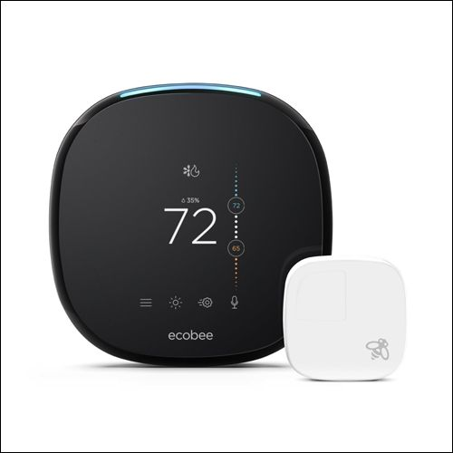 ecobee4 Alexa Enabled Thermostat with Sensor compatible with