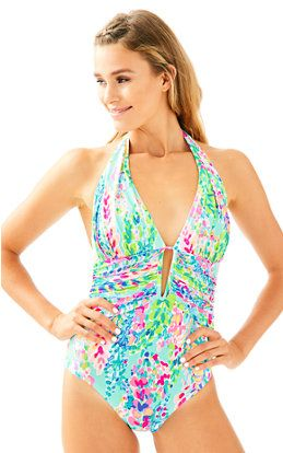 fa5fd054ef Lanai Halter One Piece Suit | Swimsuits | Swimsuits, Fun one piece ...