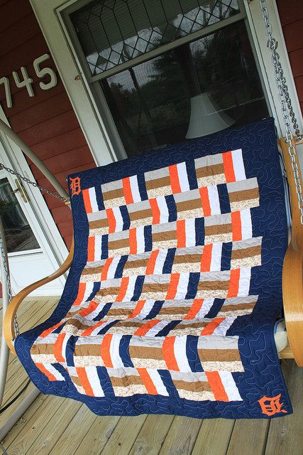 Detroit Tigers quilt for Margaret's Hope Chest - 2014 | Flickr - Photo Sharing!