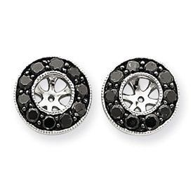 14k White Gold Black Diamond Earrings Jackets - JewelryWeb JewelryWeb. $547.60