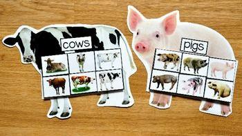 Фермы коврики для сортировки животных (Вт/реальные фото)