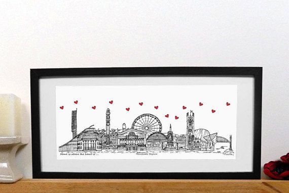 Manchester skyline print  - Home is where the heart is