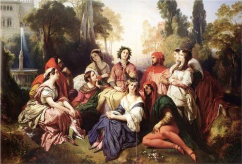 Franz Xaver Winterhalter (German: 1805-1873) | The Decameron