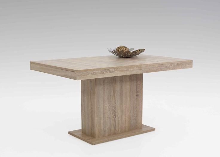 Kulissentisch Scarlet 140x90 Säulentisch ausziehbar Sonoma Eiche 1443. Buy now at https://www.moebel-wohnbar.de/kulissentisch-scarlet-140x90-saeulentisch-ausziehbar-sonoma-eiche-1443