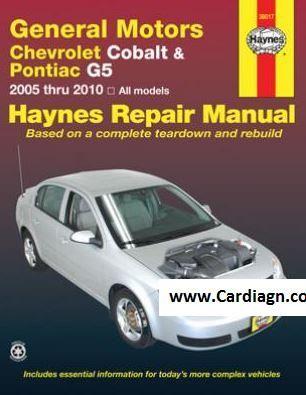 Chevrolet Cobalt, Pontiac G5, Pursuit Haynes Repair Manual PDF