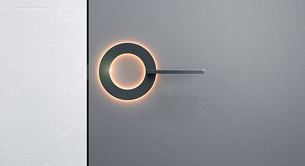 Umbra's Orb Door Handle. The truly ingenious element is the handle's integrated LED light ring, usable as anything from a nightlight to a bathroom vacancy indicator.