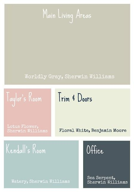 Paint Colors - like this pallet together.